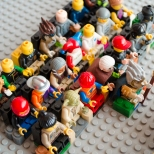 Lego Rock Concert Audience